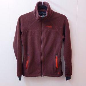 columbia fleece zip up insulated jacket coat sz S
